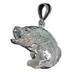 Jumping Bass Fish Pendant