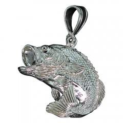 Jumping Bass Fish Pendant