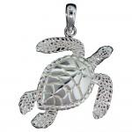 Swimming Sea Turtle Pendant