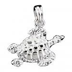 Textured Turtle Pendant