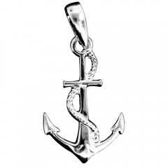 Anchor with Rope Pendant -  Made in the USA