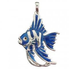 Blue Angelfish Pendant