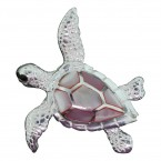 Pink Mother of Pearl Turtle Pendant