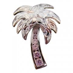 Pink Palm Tree Pendant