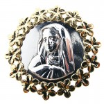 Gold and Silver Madonna Pendant - Limited Edition USA